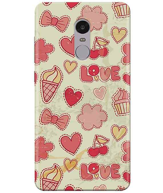 Girly Pink Redmi Note  4 Cover