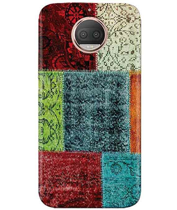 Multi-color Blocks Moto G5s PlusCover