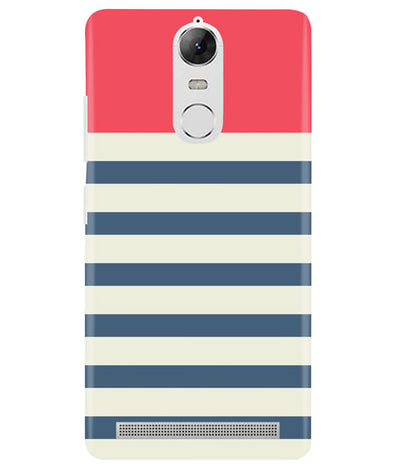 Cream Stripes Lenovo K5 Note Cover