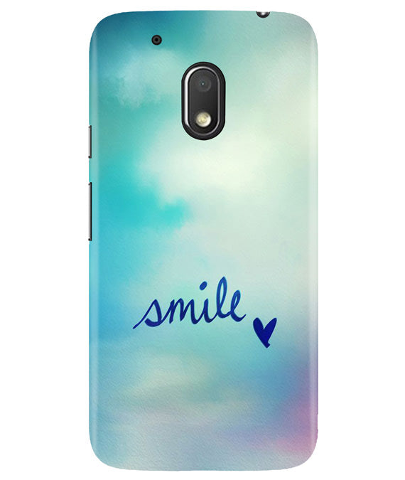 Just Smile Moto G4 Play Cover