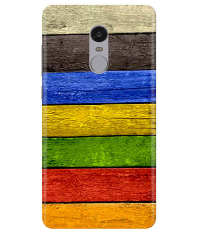 Coloured Wood Redmi Note 4 Cover