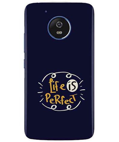 Life is perfect moto G5 Cover