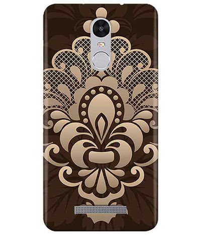 Brown Damask Redmi Note 3 Cover