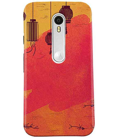 Warm Shades Lanterns Moto G3 Cover