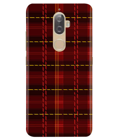 Check Fabric Lenovo K8 Plus Cover