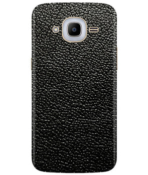 Black Leather Samsung J2 2016 Cover