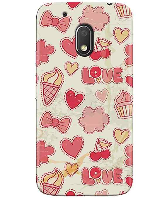 Girly Pink MOTO G4 PLAY Cover