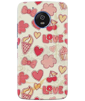 Girly Pink moto G5 Cover