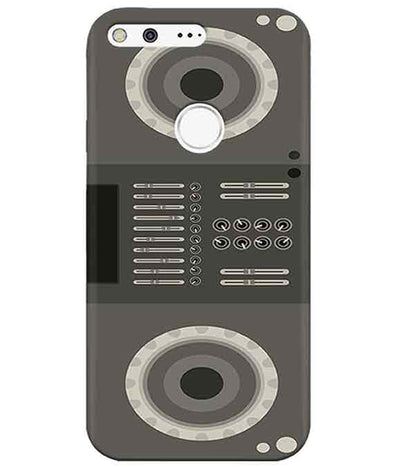 Grey Black Speaker Google PixelCover