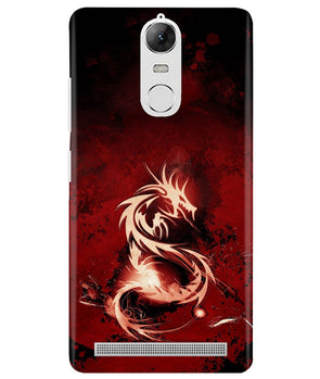 Red Chinese Dragon Lenovo K5 Note Cover