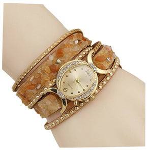 Beige Fashion Bracelet Watch