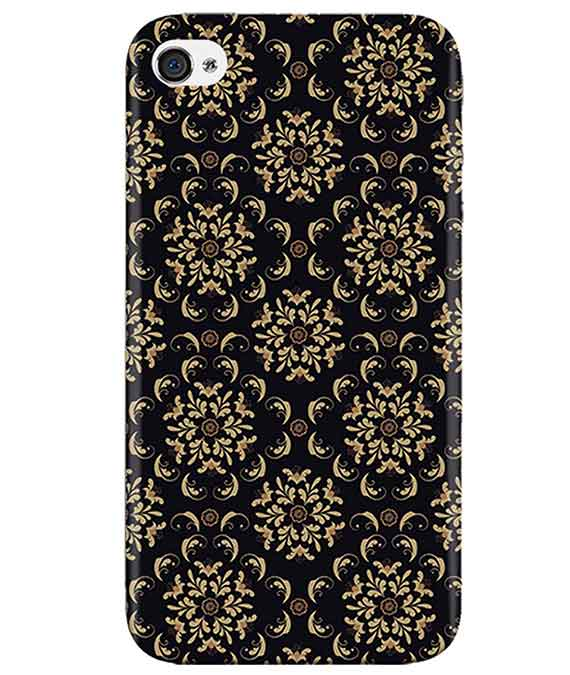 Black-Cream-Floral-iphone-4-cover