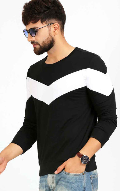 Black-Full-Sleeve-Casual-T-Shirt