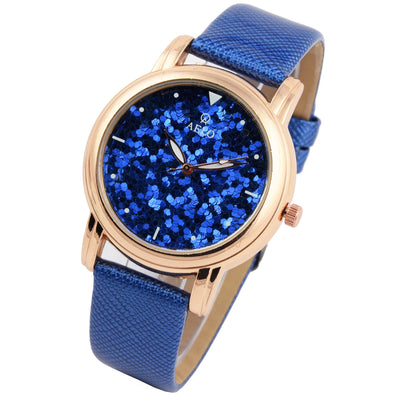 blue dial girls watch