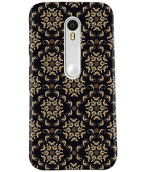Black Cream Floral Moto G3 Cover