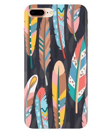 Colorful Feathers Iphone 7-PLUS Cover