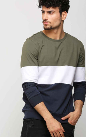 Color Block Men's T Shirt