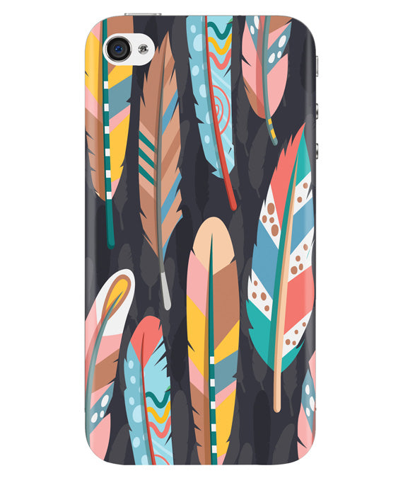Colorful Feathers Iphone 4/4S Cover