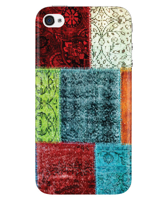 Multi-color Blocks Iphone 4/4S Cover
