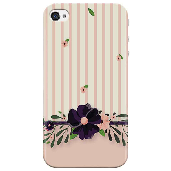 Violet Floral Iphone 4 Cover