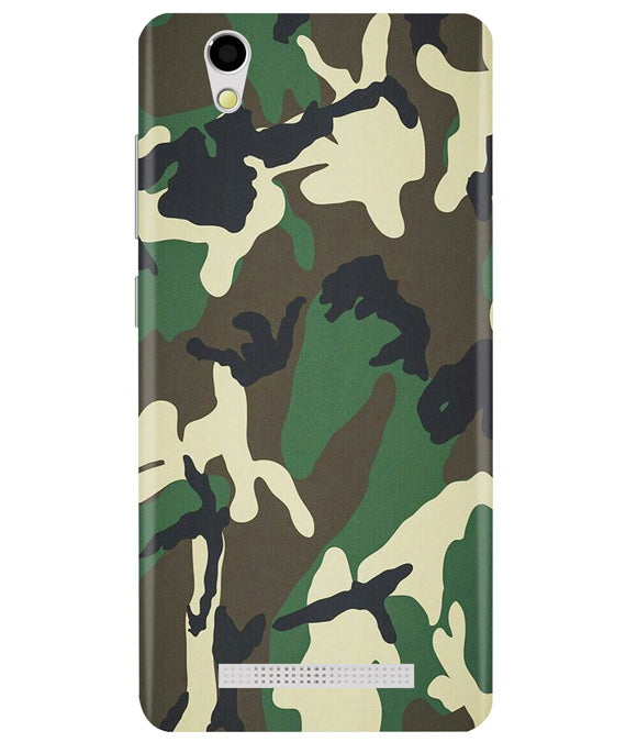Green Camouflage Ginonee F103 Back Cover