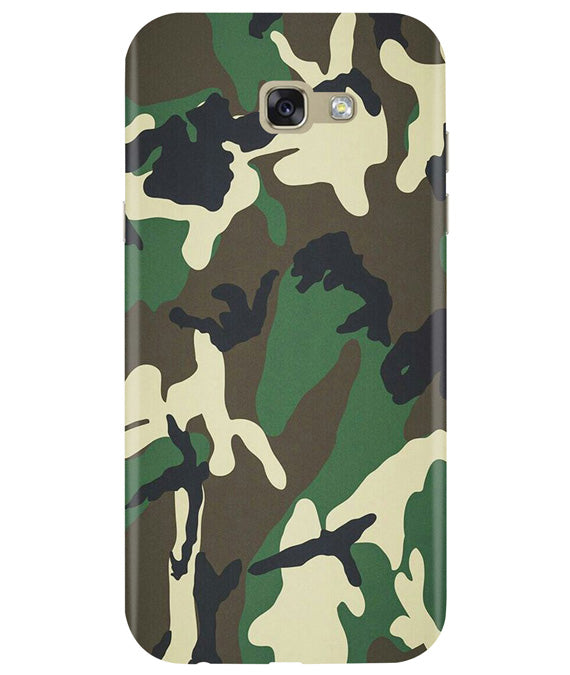 Green Camouflage Samsung A7 2017 Cover