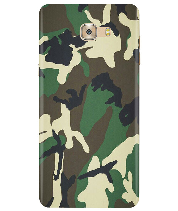 Green Camouflage Samsung C7 Pro Cover