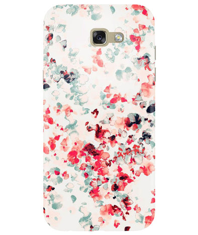 Crimson Petals Samsung A7 2017 Back Cover