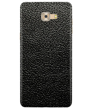 Black Leather Samsung C7 Pro Cover