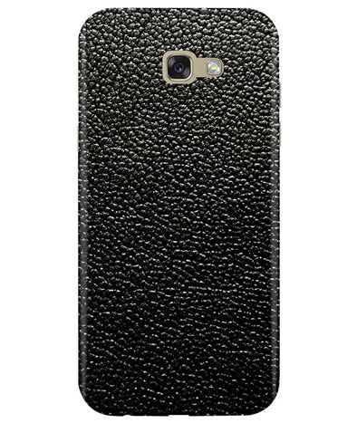 Black Leather Samsung A7 2017 Cover