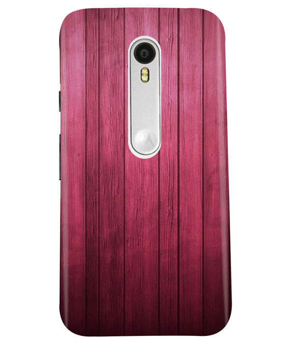 Raspberry Wood Moto G3 Cover