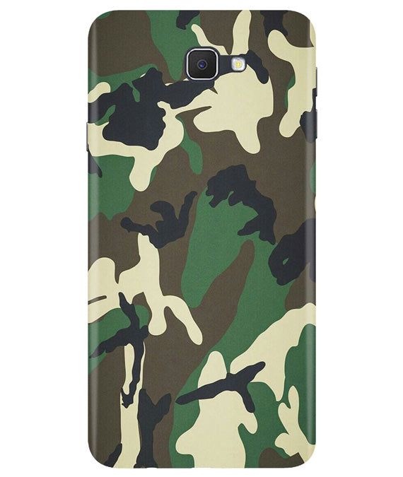 Green Camouflage Samsung J7 Prime Cover