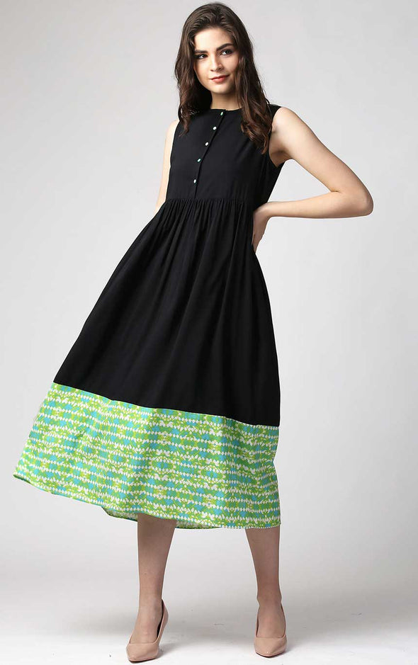Front Button Ladies Dress