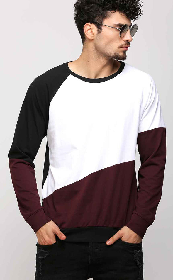 Full Sleeve Black Ribbed T Shirt For Men
