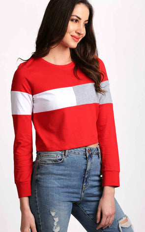 Full-Sleeve-round-neck-red-crop-top