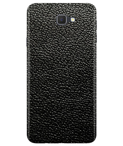 Black Leather Samsung J7 Prime Cover