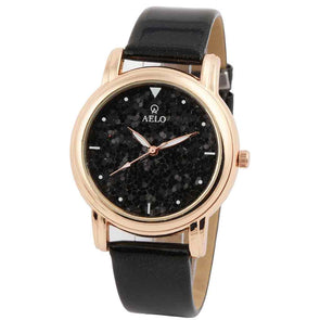 Girl's Black Strap Watch