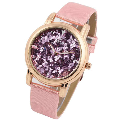 Girl's Glitter Pink Watch