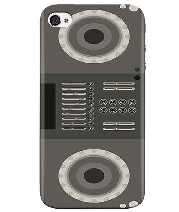 Grey-Black-Speaker-iphone-4-cover