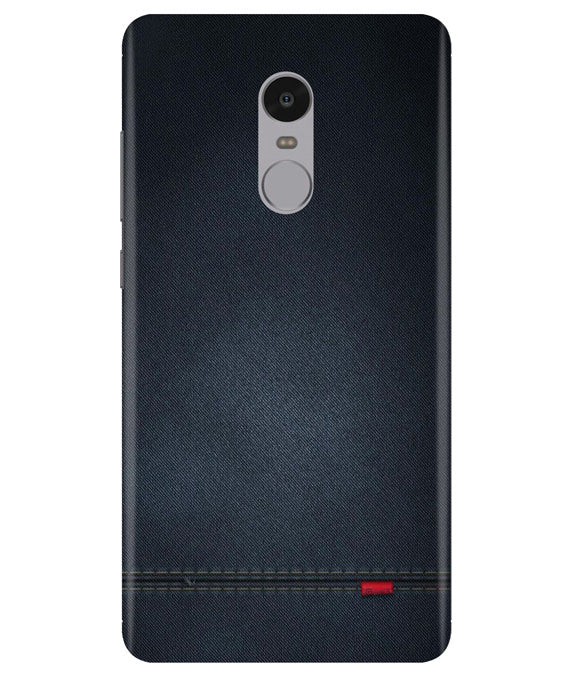 Black Denim Redmi Note 4 Cover