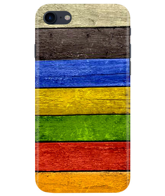 Coloured Wood iPhONE 8 Cover