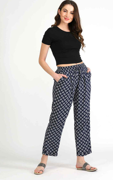Pattern Blue Pants