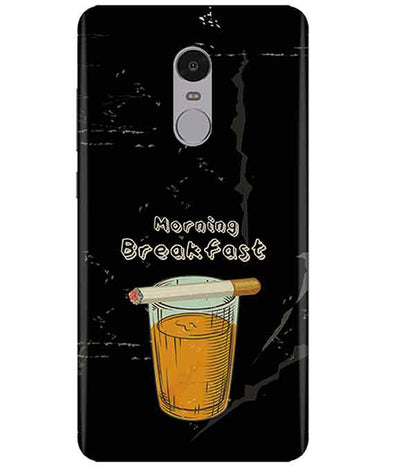 Morning Breakfast Redmi Note  4 Cover