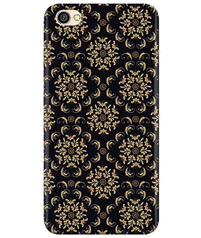 Black Cream Floral Redmi Y1 Lite Cover