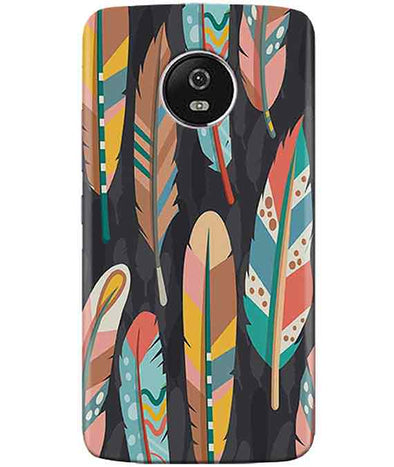 Colorful Feathers MOTO G5 PLUSCover