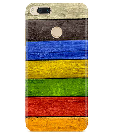 Coloured Wood Redmi A1 Cover