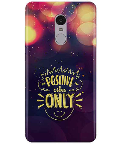 Positive Vibes Redmi Note  4 Cover