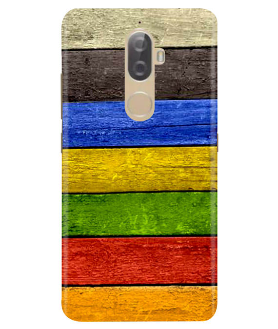 Coloured Wood Lenovo K8 Plus Cover