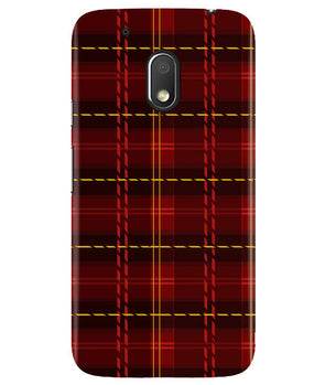 Check Fabric Moto G4 Play Cover