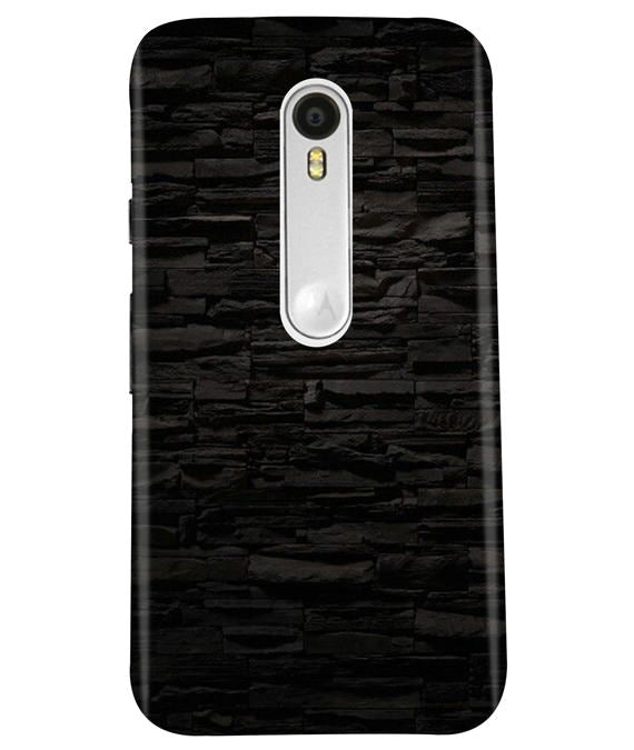 Black Stone Wall Moto G3 Cover